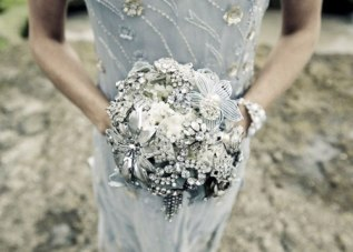 Brosje brudebukett