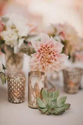 blush bryllupsdekor sukkulent