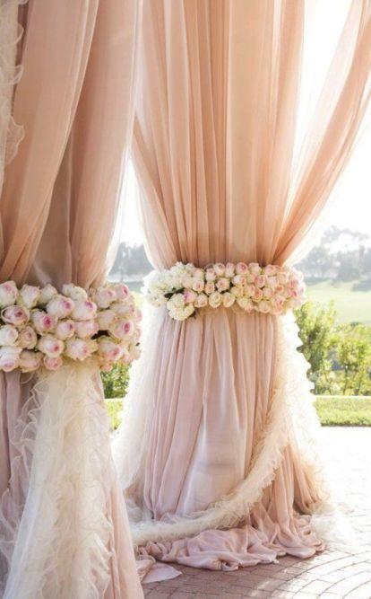 blush dekor og bryllup