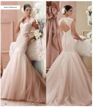 David Tutera blush brudekjole 2015