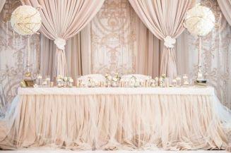 blush bryllupsdekor