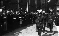1949 Die Stabsoffiziere unter Adjutant Theo Kautz