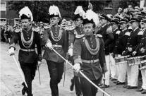1951 Adjutant Heinz Thomas, v.l. Johann Huppertz, Karl-Heinz Baltes, Heinrich Hülsen