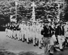 1964 Trommlerkorps Katzem mit Tambourmajor van Ameln