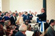 1969 Pfingsthochamt mit Chorleiter und Schützenkönig Heinz Adrian