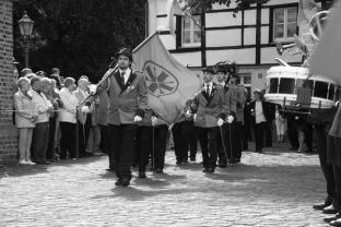 Der 2. und 3. Jägerzug diesmal für Pfingsten zusammengelegt. Fahnenjunker Jörn Grabowski und Interimszugführer Spieß Thorsten Grabowski