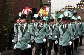 2007 Jägerzug 1. Dietmar Kuhn, Harald Huppertz (Zugführer), Stefan Gerlach, Carsten Jacobs, Wolfgang Hülsen, Kuddel, Bernd Schlitt, Reiner Schmitz, Bernhard Esser, Franz-Josef Esser