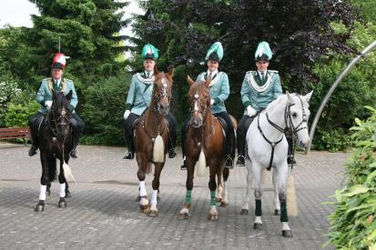 2007 Die Reiteroffiziere General Karl-Heinz Strauchen, Ralf Axer, Daniel Schlagheck, Dennis Pappers