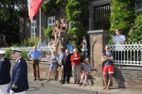 Auf dem Weg zur Parade das Haus Schlagheck