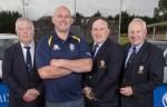 At the launch of Bruff RFC's Bull N Booze, President of Bruff RFC Nicolas Cooke, Former Irish Rugby Legend John Hays, Munster Branch Delegate Richard Leonard and Founding Member of Bruff RFC Willie Conway