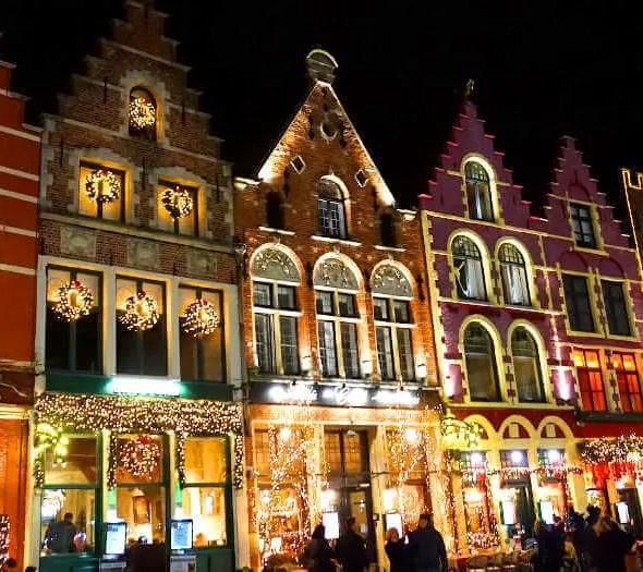 illuminations de Noël à Bruges