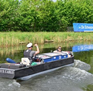 Eco race challenge op zoek naar duurzame binnenvaart