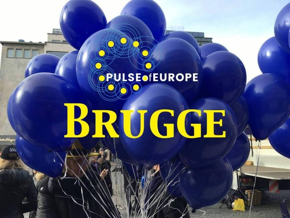 Pulse of Europe: nu ook in Brugge