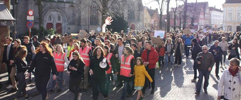 Global strike for Future: 400 in Brugge, 30.000 in Brussel