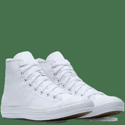 custom trouw converse mono high top bruidssneakers