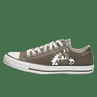 Trouw Converse Low Top Grijs Bruin bruidssneakers