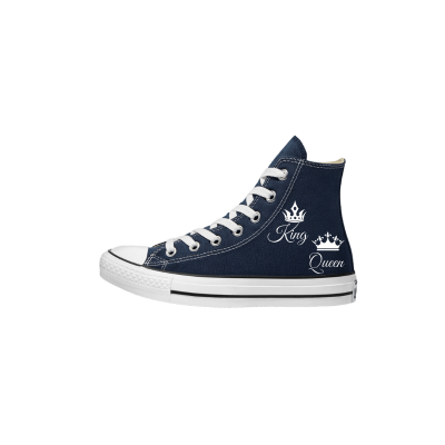 Trouw Converse High Top Blauw bruidssneakers