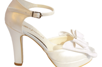 Glitter Bruidspumps Ivory