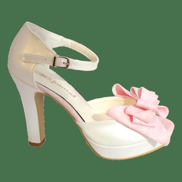 Pastelia glitter bruidspump roze