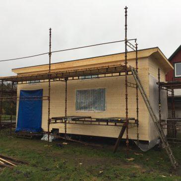 Bilder på bygget