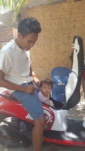 Juna met zijn dochter
