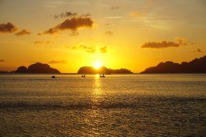 Sunset Corong Corong Beach - El Nido