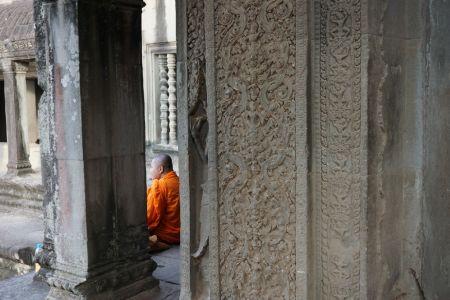 Monk in Angkor Wat