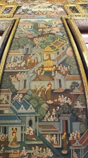 Versieringen binnen in Wat Pho