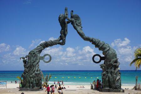 Toegangspoort Playa del Carmen