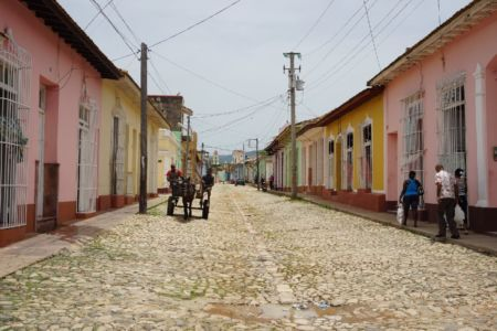 Empty streets in Trinidad