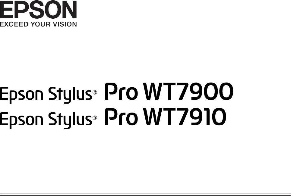 Bruksanvisning Epson Stylus Pro WT7910 (116 sidor)