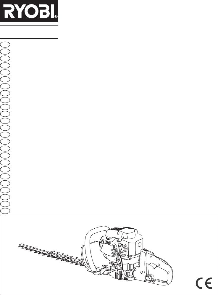 Bruksanvisning RYOBI RHT2660DA (239 sidor)