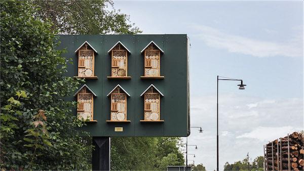 McDonald's suecia utiliza sus vallas publicitarias para albergar abejas 1