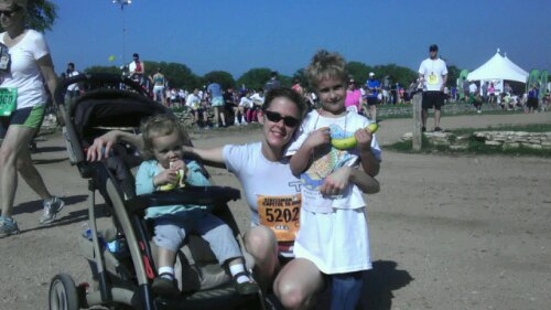 Mads, Cindy and Luke after the Cap 10K