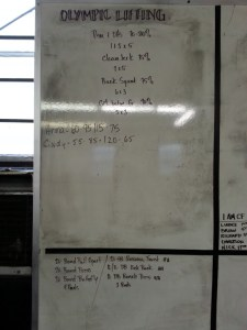Olympic Lifting workout
