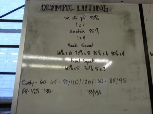 Olympic Lifting regimen