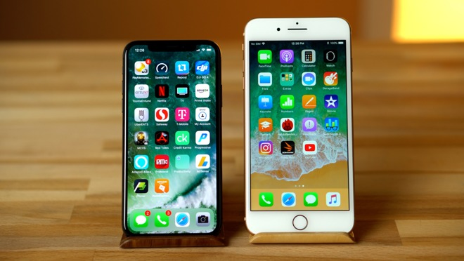 iPhone X and iPhone 8 Plus