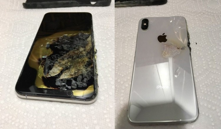 iPhone XS Max exploded and burned