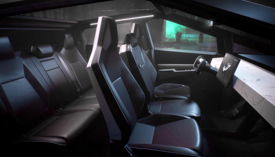 Tesla Cybertruck interior picture