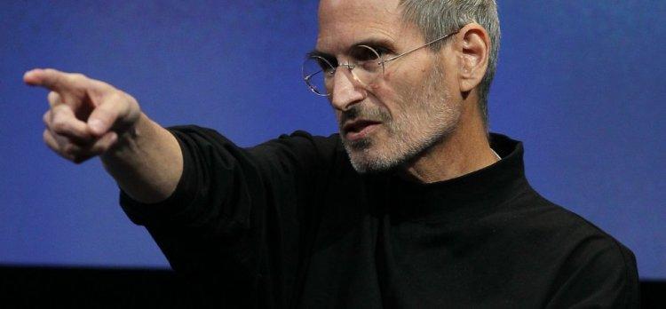 Steve Jobs pointing hand