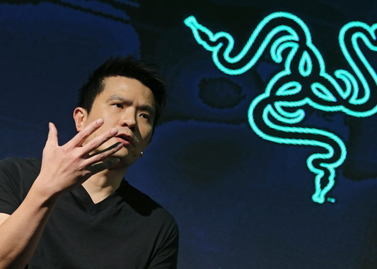 Tan Min Liang, Co-founder, CEO and Executive Director of Razer, attends a press conference on the proposed listing of Razer Inc. at JW Marriott Hotel Hong Kong in Admiralty. 31OCT17 SCMP / Dickson Lee (Photo by Dickson Lee/South China Morning Post via Getty Images)