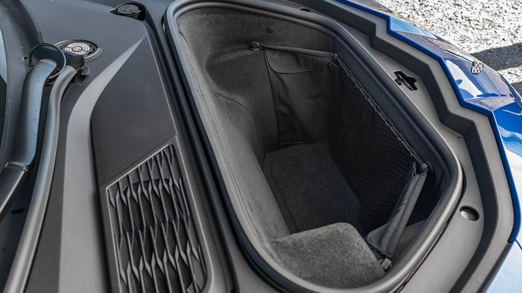 The front cargo space of the 2020 Chevrolet Corvette Stingray