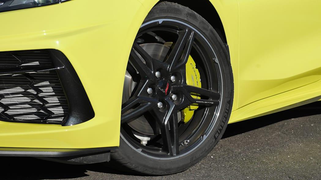 The tire of the 2020 Chevrolet Corvette Stingray