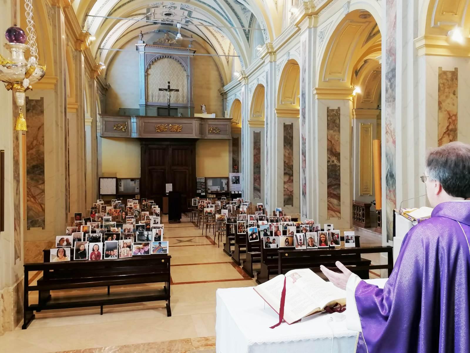Empty churches due to COVID-19