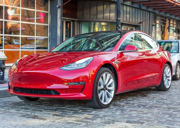 Tesla Model 3 on the street