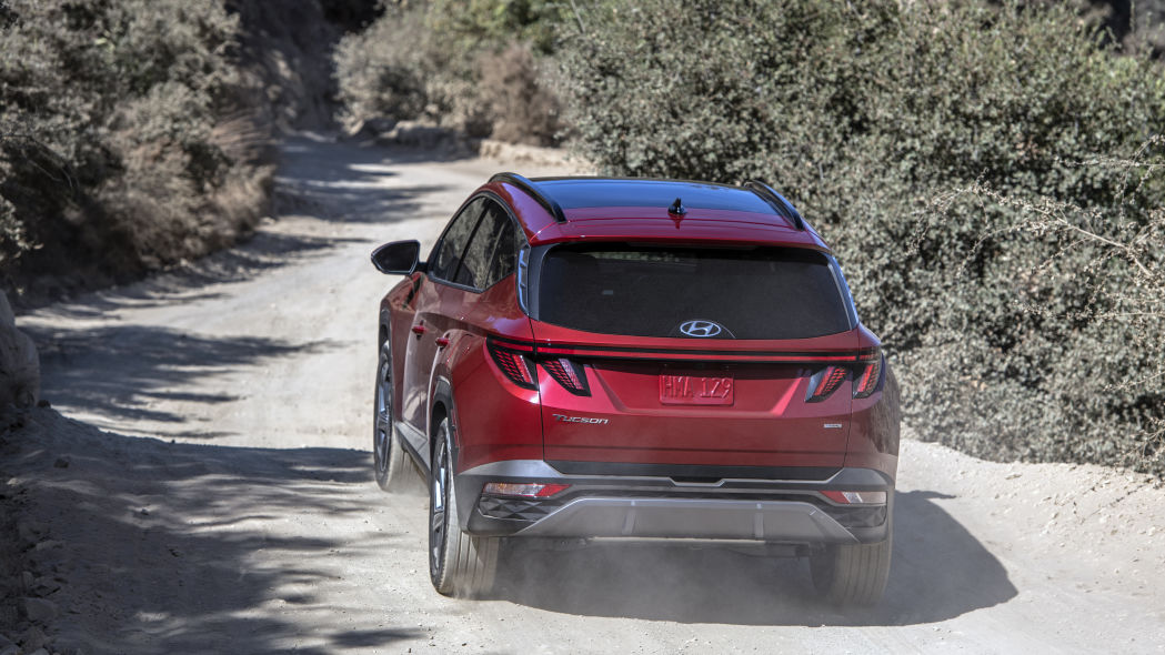 the back of the Hyundai Tucson 2022
