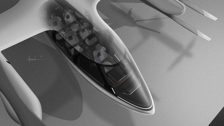 Aerial view of the concept Hyundai S-A1