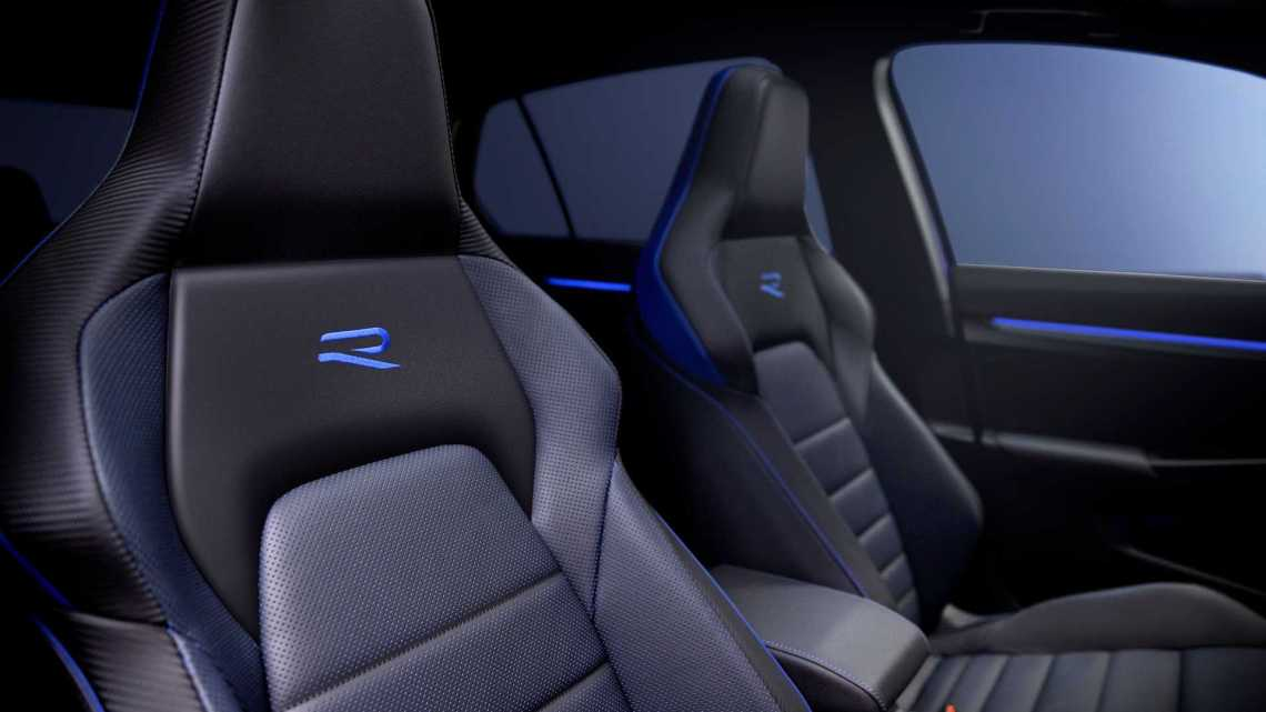 The seat of the Volkswagen Golf R
