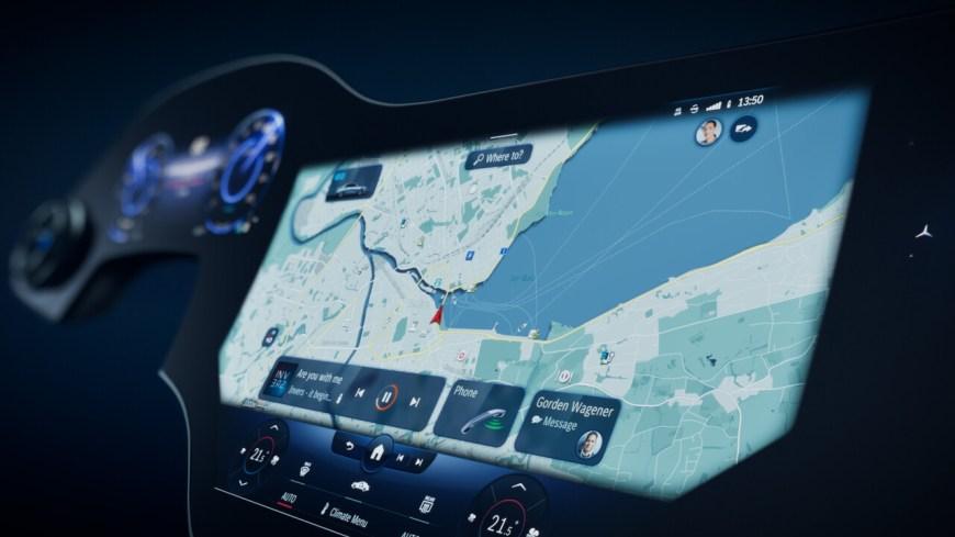 MBUX Hyperscreen display
