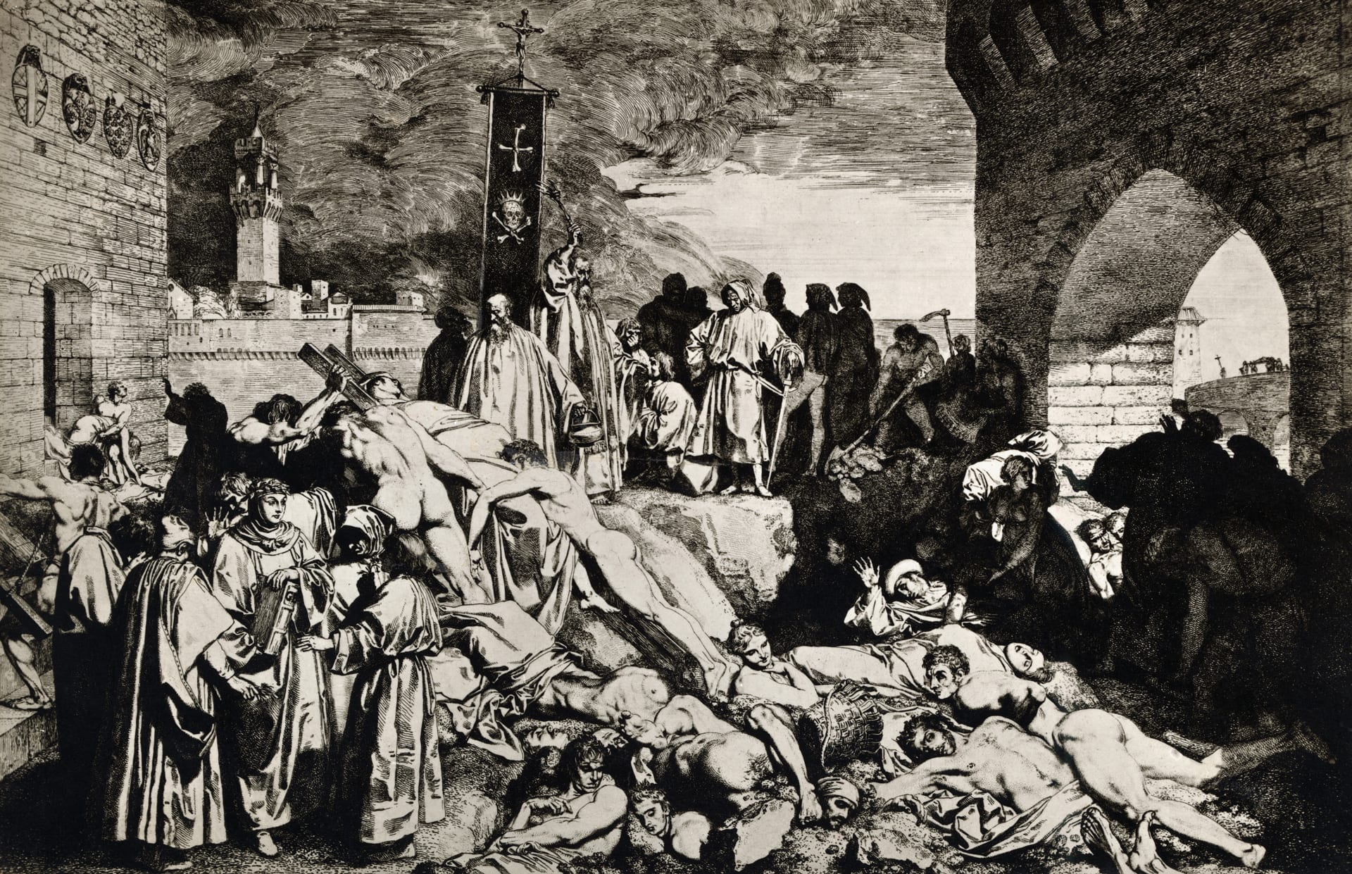 Black Death wiped a large percentage of world's population